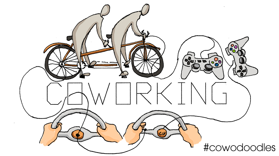 Coworking is like riding a tandem bike